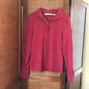 Vintage TOMMY HILFIGUR 1/4 zip collared shirt sz M